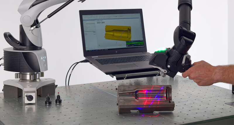Hexagon Laser Scanning Technology with portable measuring arm
