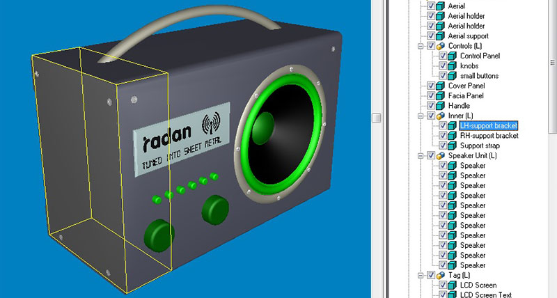 RADAN Software - 3D Side Panel