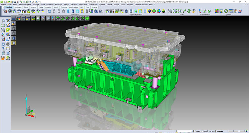 Specialised CAD/CAM software for moulds and press tools