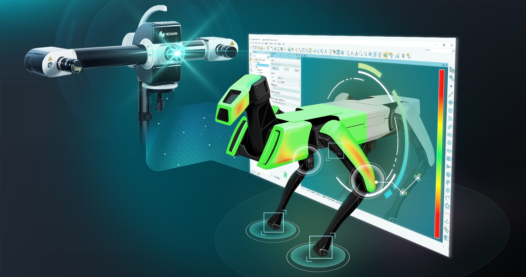 Dedicated PolyWorks interface for Hexagon structured light scanners