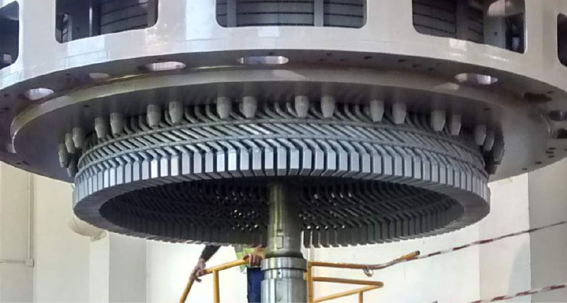 Stator Replacement with laser tracker