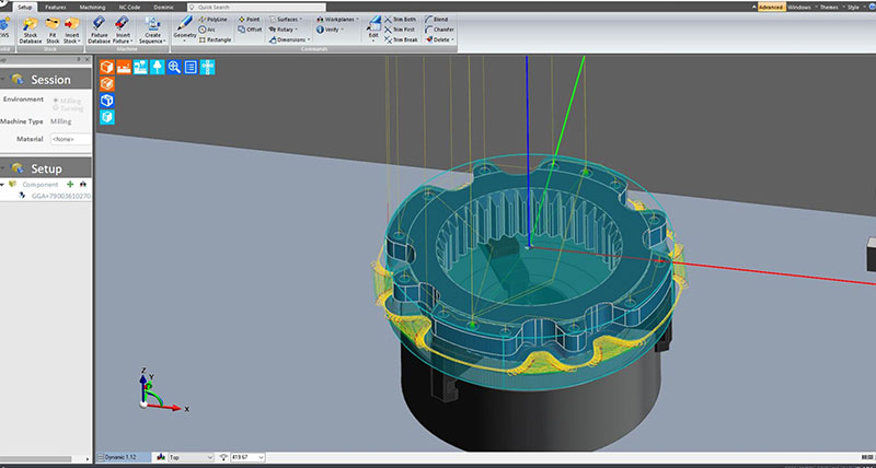 Edgecam waveform roughing moves gibbs up a gear hexagon edgecam waveform roughing moves gibbs up a gear hexagon manufacturing intelligence ccuart Choice Image