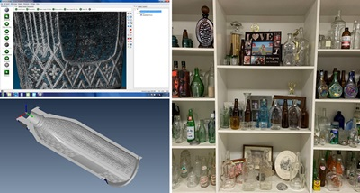 A wide variety of glass bottle are precisely produced with the help of 3D scanning