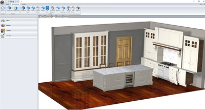 Cabinet Vision's full colour 3D render
